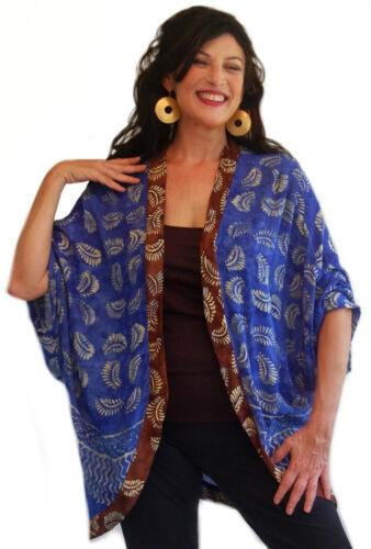 pick color jacket shrug long curved hem batik boho M L XL 1X 2X 3X 4X 5X 6X OS