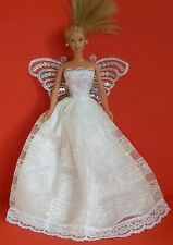 BARBIE SINDY DOLL DRESS BRIDE GOWN CLOTHING, FAIRY, ANGEL, BUTTERFLY WINGS,
