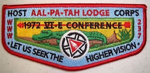 AAL-PA-TAH-237-PATCH-1972-NOAC-2015-OA-100TH-CENTENNIAL-HOST-FLAP-120-MADE-TOUGH
