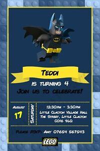 Detalles De Lego Batman Personalizado Invitaciones Fiesta Con Sobres Hombre Araña Ver Título Original