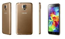"GALAXY s5 - 16GB - GOLD - BOOST MOBILE 4G LTE NETWORK - GOOD - ""B"" CONDITION"