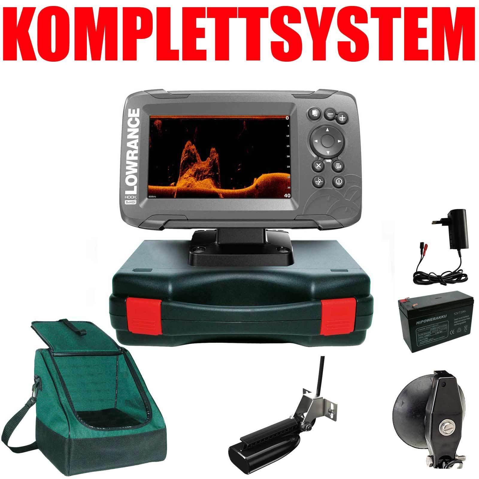 Lowrance portátil básico más completo sistema de sonar Hook2 5 x SplitShot HDI GPS