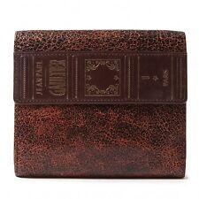 Jean-Paul GAULTIER Cracked Leather wallet(K-36131)