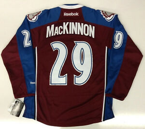 e4924f43364 Image is loading NATHAN-MACKINNON-COLORADO-AVALANCHE-REEBOK-PREMIER-HOME- JERSEY-