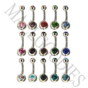 V001-Steel-Belly-Naval-Ring-Piercing-Curved-Bar-Barbell-Crystal-Double-Gem-Jewel