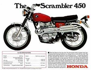 Image Is Loading HONDA Brochure CL450 K1 Scrambler 1968 And