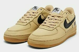 Nike Air Force 1 Lv8 Gs Gold White Black Cq4215 700 Size 5y