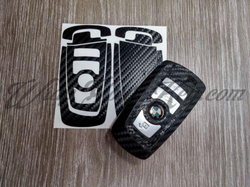 Schwarz Kohlenstofffaser BMW Schlüssel Aufkleber Überzug 1 F21 F20 2 F22 F23 F45