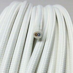 Textilkabel-Stoffkabel-Textilleitung-rund-weiss-2x0-75mm-H03VV-F