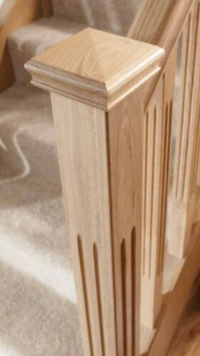 Fence Post Solid Oak Newel Cap Stair Parts