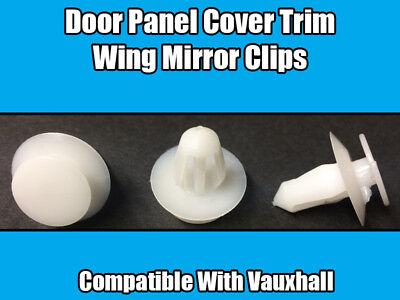 10x Vauxhall Plastic Trim Clips Door Card /& Wing Mirror Trim Panel Cover Clips