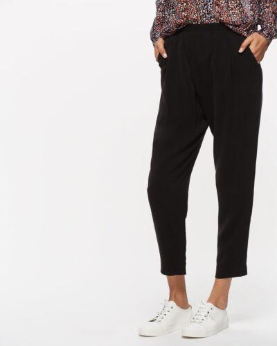 Jigsaw Sandwashed Cr�pe Wrap Trousers Womens New Black