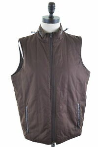 Image is loading MASSIMO-DUTTI-Womens-Gilet-Size-16-Large-Brown- 946f1dc6bc4