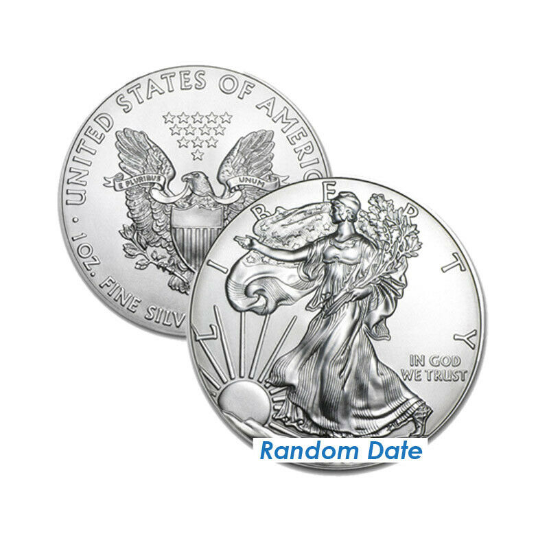 Roll of 20 Silver American Eagle 1oz .999 US Mint American Eagles $1 BU Coins