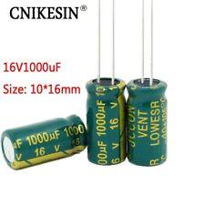 50pcs 16v1000uf For Sanyo High 10x16mm 16v 1000uf Capacitor Electrolytic Plug