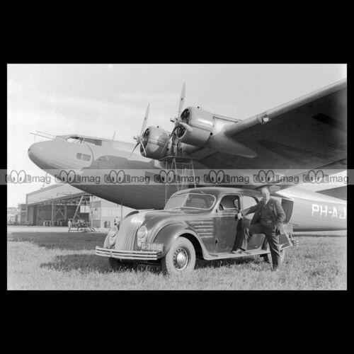 FXXXVI 1934 CHRYSLER AIRFLOW /& FOKKER F-36 #pha.019398 Photo ANTHONY FOKKER