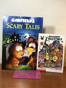 2 Vtg Books Garfield S Scary Tales Monster Valentines 1990 Paperback New Ebay
