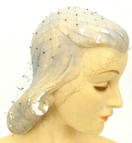 Vintage Human Hair Net (2 Nets) Beaded 1 is Snood