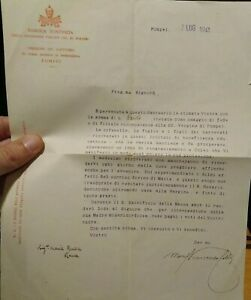 1941-LETTERA-DELEGATO-PONTIFICIO-A-POMPEI-MONS-VINCENZO-CELLI-VESCOVO-RAS-DIMAS
