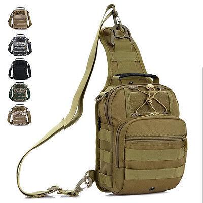 Men Nylon Military Travel Hiking Messenger Shoulder Back pack Sling Chest Bag