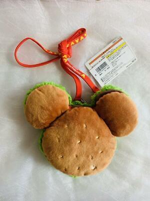 TOKYO DISNEY RESORT Hamburger Mickey Mouse Pass Case Holder Coin Case Bag yellow