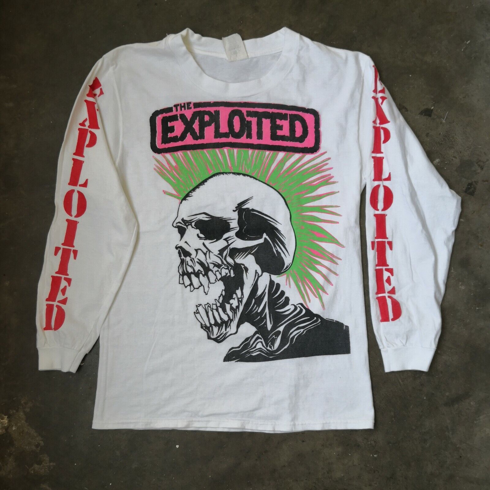Ultra Rare Vintage 90s The Exploited Wattie Buchan Punk Rock Metal T-shirt