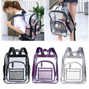 Large Transparent PVC See Through Clear Backpack Waterproof Sport Bag Casual Bag