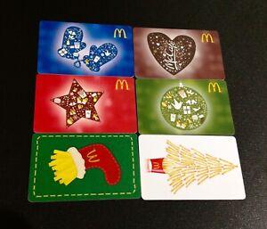 CANADA-MCDONALDS-CHRISTMAS-GIFT-CARD-LOT-OF-6-PCS-NEW