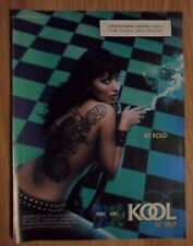 2006 Print Ad KOOL Cigarettes Tobacco ~ Sexy Topless Girl with a Dragon Tattoo