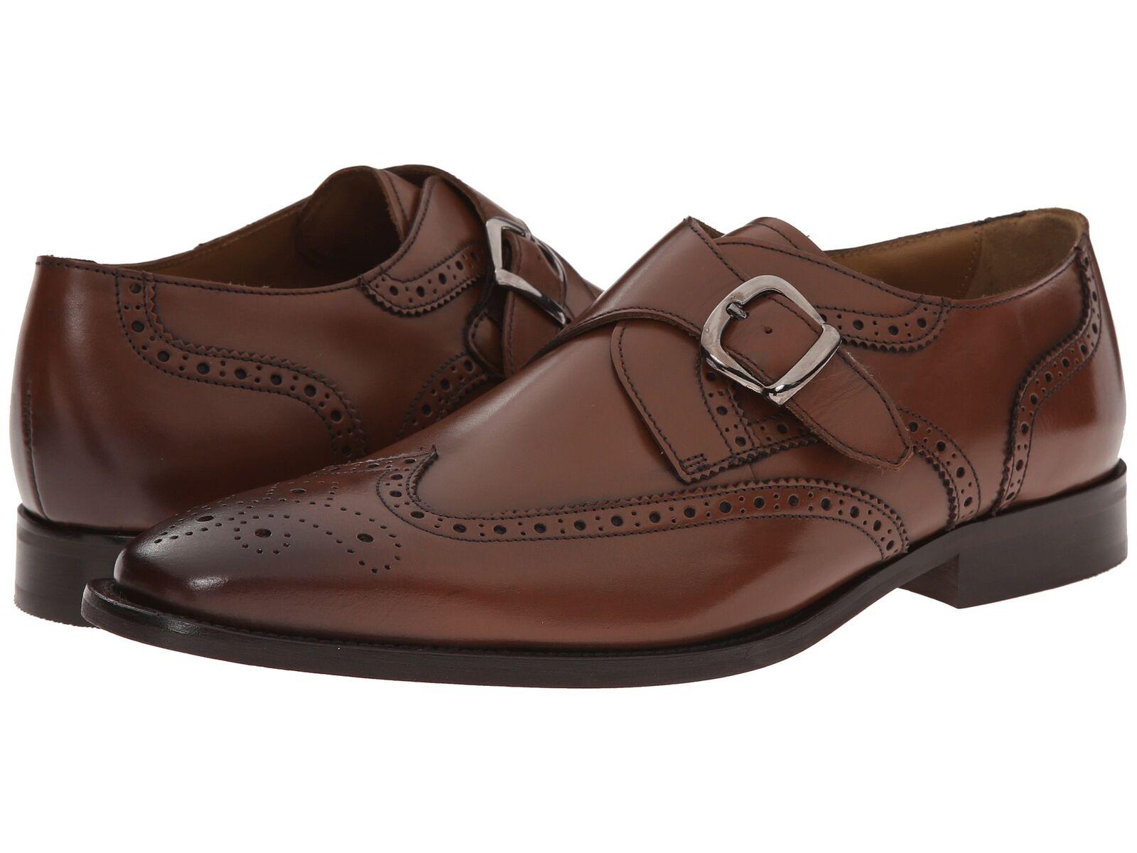 Florsheim Men's Sabato Wingtip Monk Cognac leather shoes 12127-221