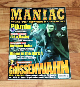 2001 Maniac Magazine Fur Fighters Jak And Daxter Final Fantasy X Dragon Quest 7-afficher Le Titre D'origine