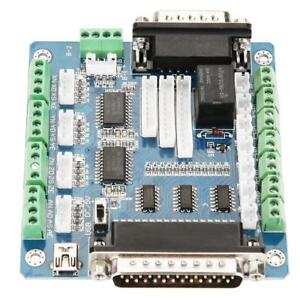 Details about MACH3 Interface 5 Axis CNC Stepper Motor Driver Controller  Breakout Board UBS