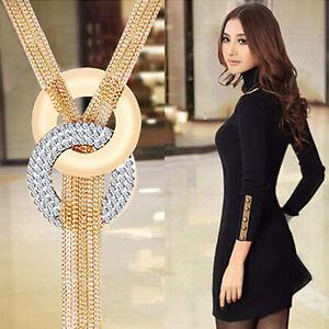 EG-Damen-Quasten-Pullover-lange-Kette-Charmant-Halskette-Modeschmuck-umwerfend