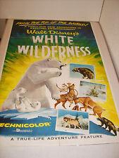 WHITE WILDERNESS 1958 DISNEY ORIGINAL 27x41 FOLDED MOVIE POSTER (468)
