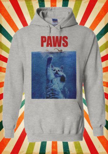 Paws Cat Kitten Meow Parody Hipster Men Women Unisex Top Hoodie Sweatshirt 466