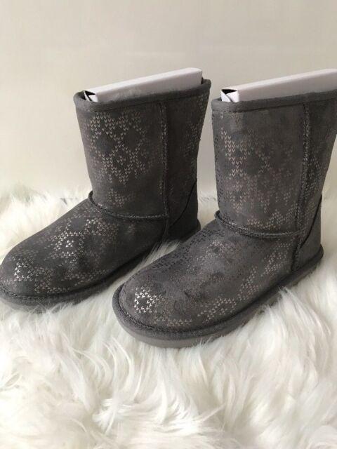 ugg classic 2 icelandic foil metal boot size 4 ebay rh ebay com