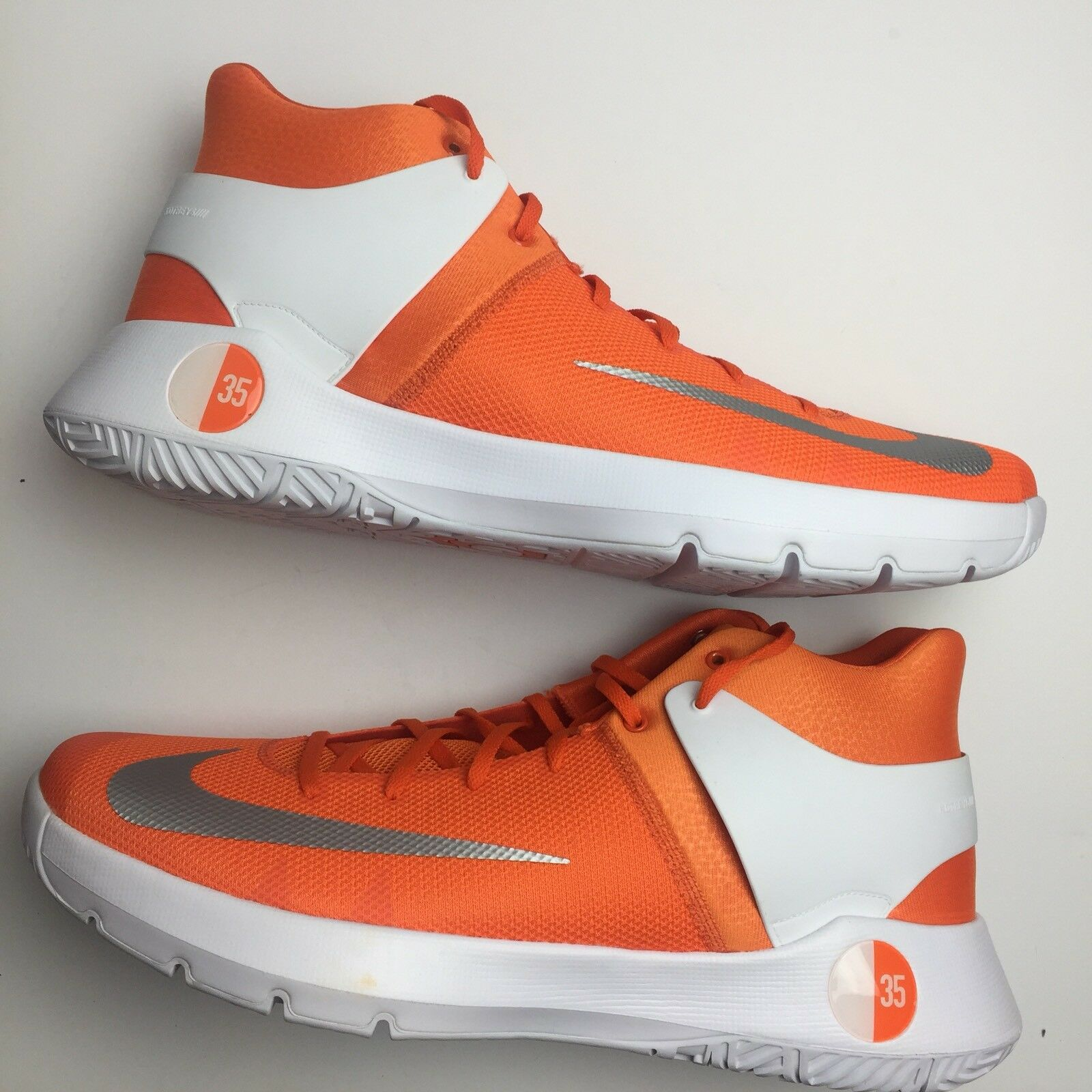 The latest discount shoes for men and women Nike Mens 17.5 KD Trey 5 Basketball Shoe Kevin Durant Orange White Sneaker New