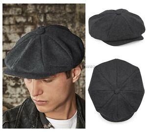 527a656a6 Details about Beechfield Melton Wool Baker Boy Flat Cap Newsboy Hat Peaky  Blinders (B629)