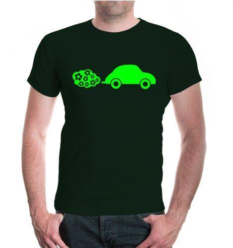 Herren Unisex Kurzarm T-Shirt Blumenauto Fahrzeug Motiv