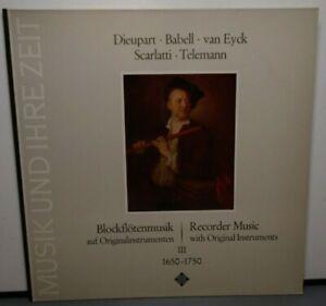 MUSIK UND IHRE ZEIT DIEUPART BABELL VAN EYCK SCARLATTI TELEMAN (NM) 9582 RECORD