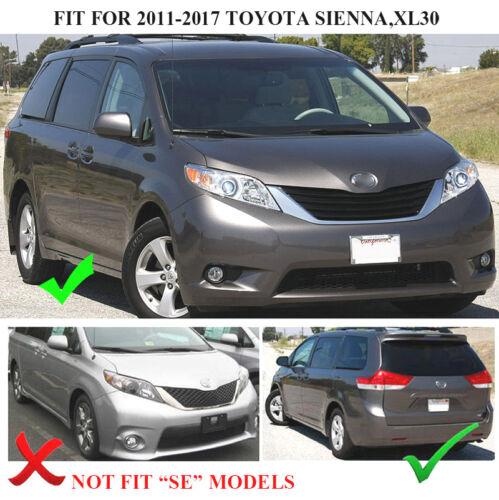 4Pcs Set For Toyota Sienna 2011-2017 Mudflaps Mud Flaps Splash Guards Mudguards