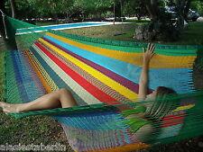 Original Mexikanische Netz-Hängematte Mexi 4 regenbogen Mexico, Hängematte