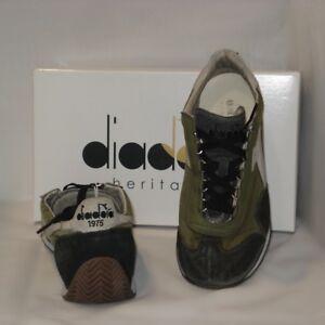 Caricamento dell immagine in corso Sneakers-Diadora-Equipe-Dirty-Kanwas- Verde-e-Camoscio- 3a87bba0bfd
