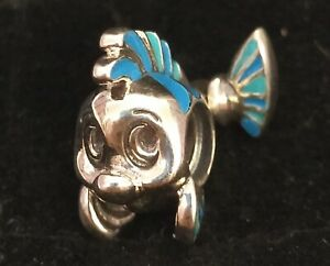 Pandora-DISNEY-Charm-Bead-798230ENMX-The-Little-Mermaid-Flounder-S925-ALE