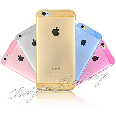 Ultra Thin Bling Glitter Silicone Gel TPU Rubber Case Cover For iPhone 6 6S 5/5S