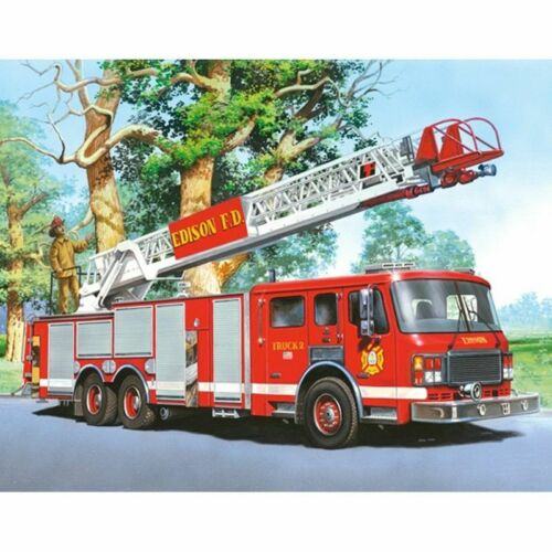 Fire Truck Diamond Painting Design House Wall Decoration DIY Square Round Drills