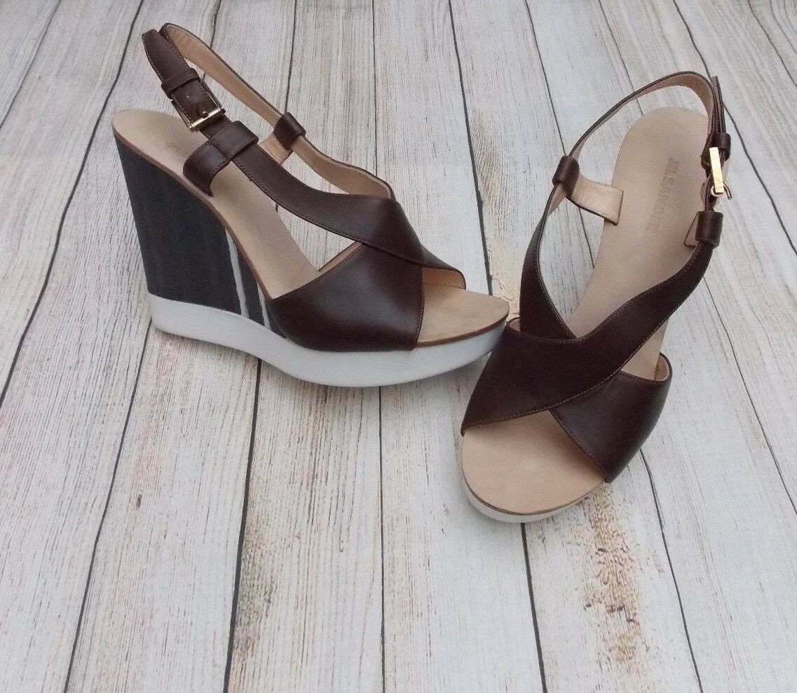 Jil Sander chassé-croisé des sandales compensées   BN   Authentique   394   6.5uk   39.5   chaussures   talons