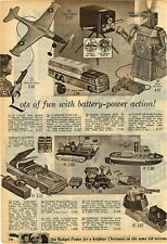 1959 PAPER AD Toy Robot Robert Greyhound Bus Sonar Guided Pom Pom Gun Sunliner