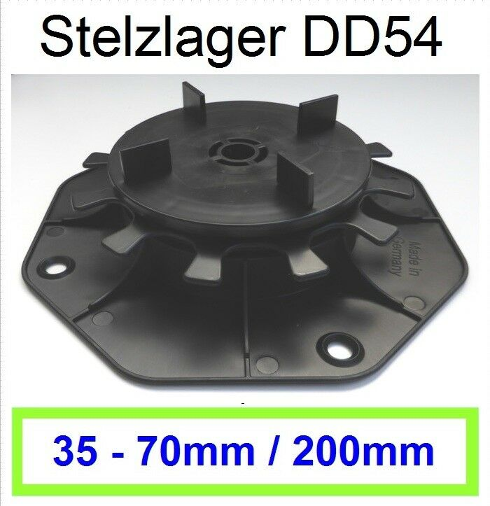 126 Stelzlager 35-70mm, Plattenlager Feinsteinzeug, Fuge 3mm, Steghöhe15mm