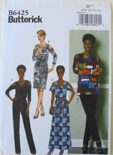 Butterick 6425 Misses Top Dress Jumpsuit Pants Sash Sewing Pattern Sz 6-14